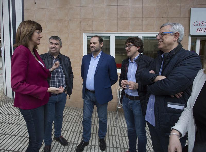 José Luis Ábalos, Eneko Andueza, Idoia Mendia y Jose Ángel Rodríguez en Rentería