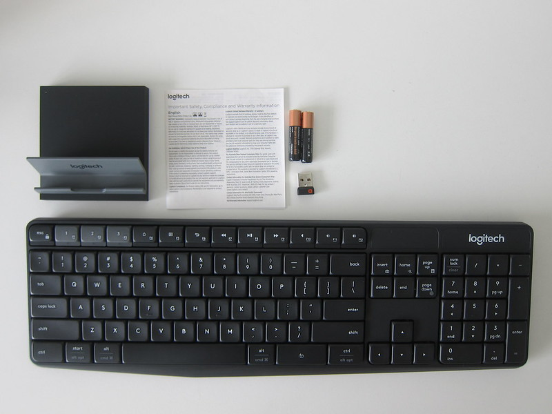 Logitech K375s Multi-Device Wireless Keyboard - Box Contents