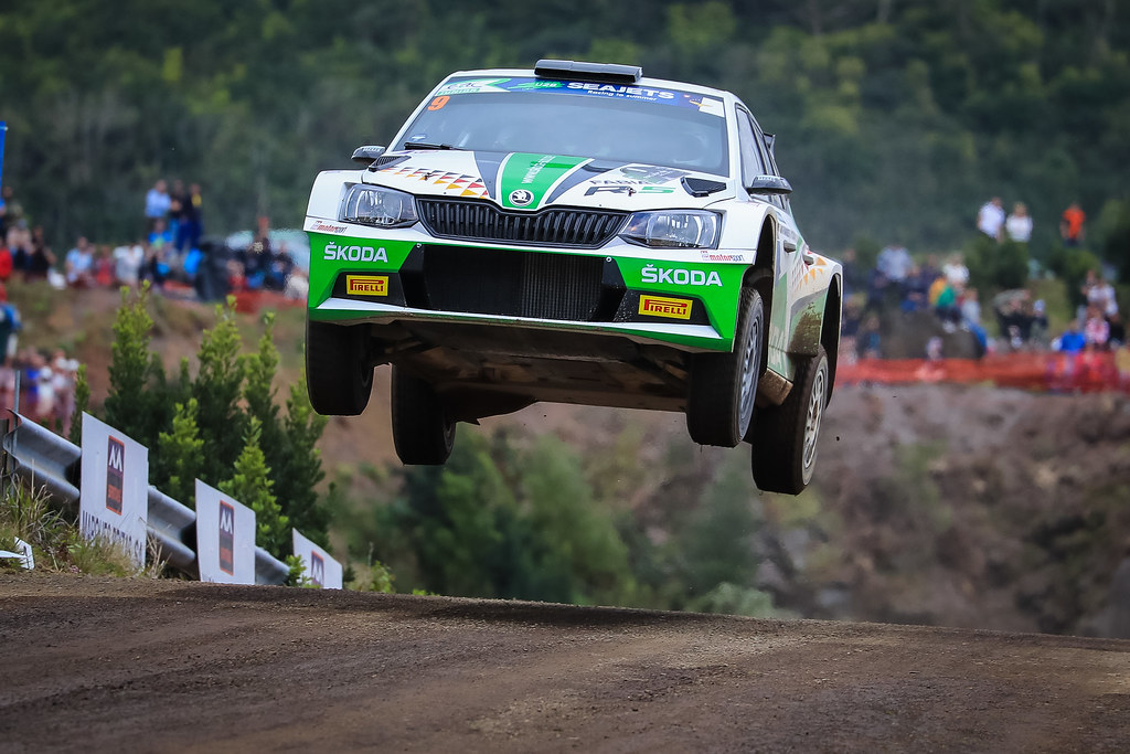 09 KREIM  Fabian (deu), CHRISTIAN Frank (DEU), SKODA AUTO DEUTSCHLAND, SKODA FABIA R5, action during the 2018 European Rally Championship ERC Azores rally,  from March 22 to 24, at Ponta Delgada Portugal - Photo Jorge Cunha / DPPI