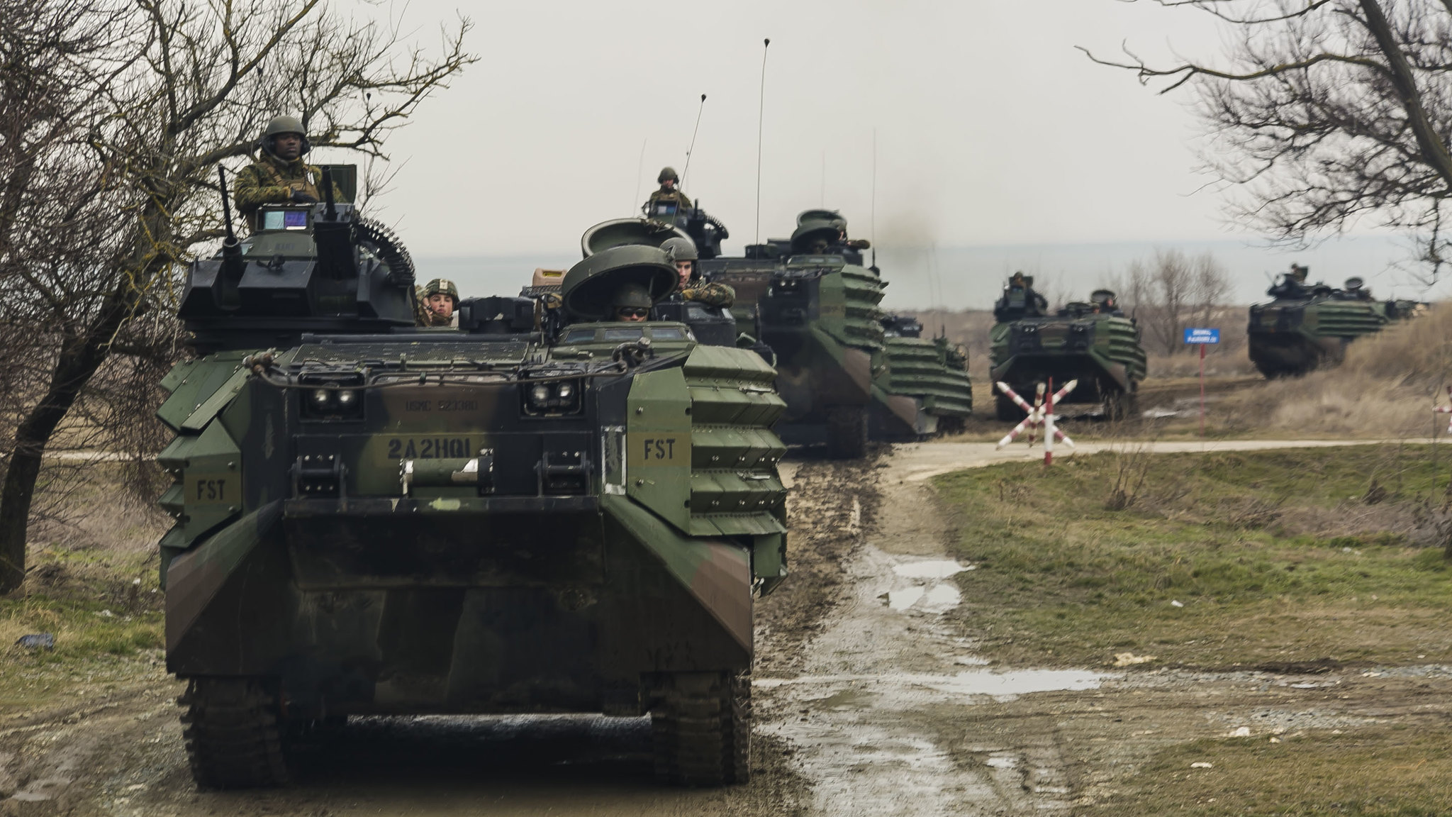 Fox Company Lands in Romania for Spring Storm 2018