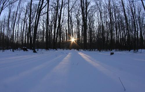 snow sun sunrise morning cleveland oh ohio