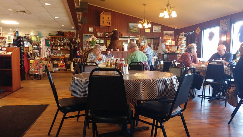 Interior of the Moose Cafe