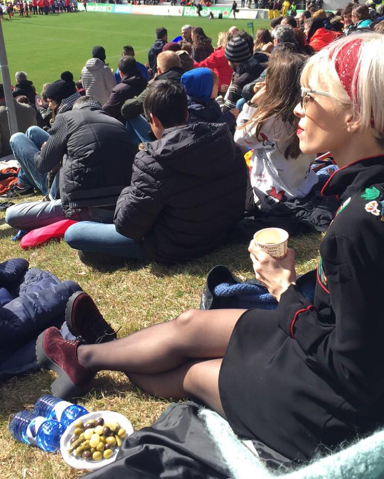 Anita y mus en el rugby