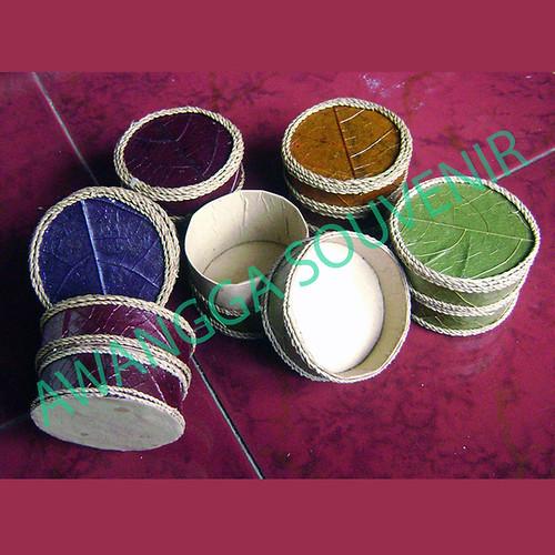 Kotak Perhiasan Daun Bulat mini