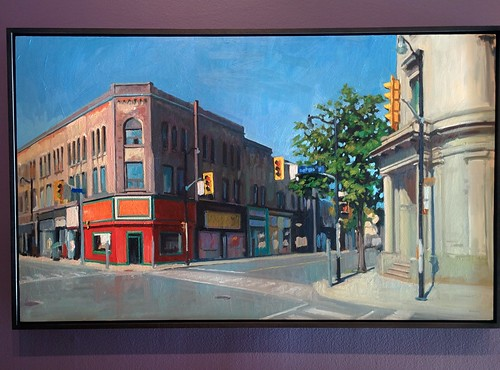 Keele Street and Dundas Street West, 2011 #toronto #tdgallery #brianharvey #keelestreet #dundasstreetwest #junction #painting #torontorevealed #torontoreferencelibrary #latergram