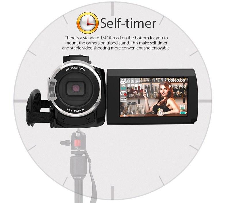 Andoer 4K ビデオカメラ (12)