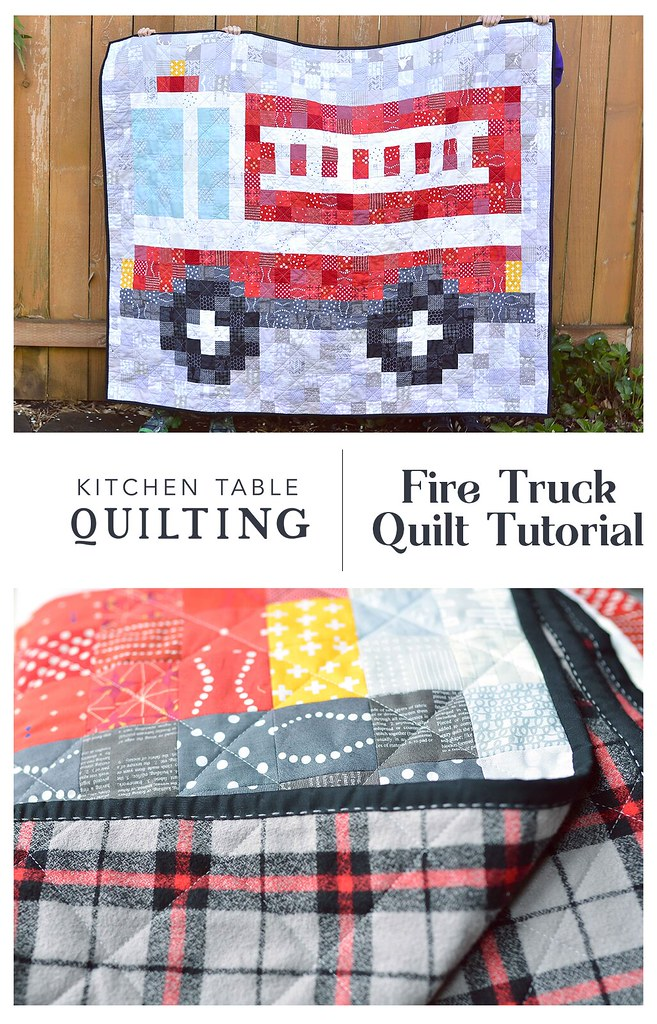 Fire Truck Quilt Tutorial - Kitchen Table Quilting