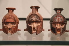 Greek oil lamps in the Ashmolean Museum, Oxford
