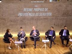 O subsecretário Narlon Gutierre Nogueira fala no Painel sobre Regime Próprio de Previdência do Servidor, durante o Seminário Reforma da Previdência - Uma reflexão necessária, promovido pela FGV no Rio de Janeiro. Foto: SPREV/MF