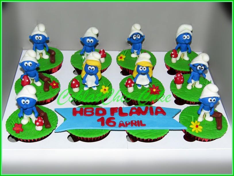 Cupcake Set Smurf