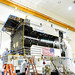 Technicians in the Space Systems Loral satellite assembly facility testing EUTELSAT 7C satellite (Credit: Photo courtesy of Space Systems Loral)