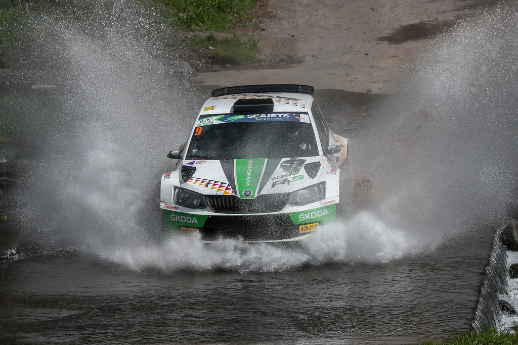 09 KREIM  Fabian (deu), CHRISTIAN Frank (DEU), SKODA AUTO DEUTSCHLAND, SKODA FABIA R5, action action during the 2018 European Rally Championship ERC Azores rally,  from March 22 to 24, at Ponta Delgada Portugal - DPPI