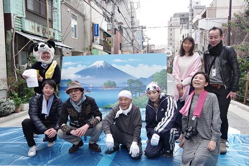 Mt.Fuji public bath landscape live painting 50