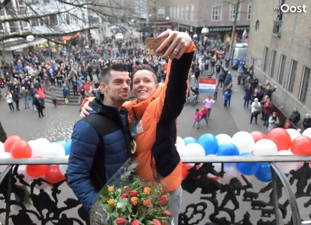 Huldiging Jorien ter Mors in Enschede