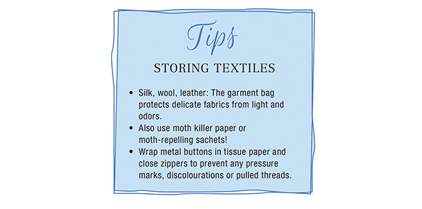 Storing Textiles Tips