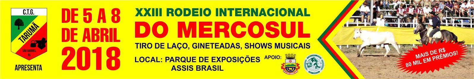 Anúncio XXIII Rodeio Internacional do Mercosul