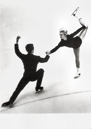 Marika Kilius and Hans Jürgen Bäumler at the IX Olympic Winter Games in Innsbruck (1964)