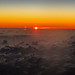 Aerial view of Sunset over the Atlantic Ocean