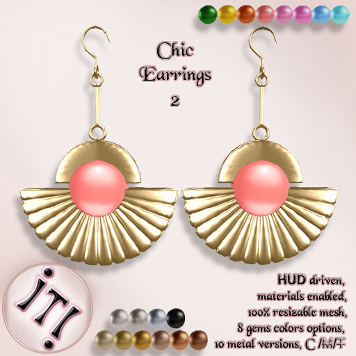 !IT! - Chic Earrings 2 Image - TeleportHub.com Live!