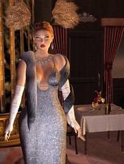 Glitter Glam Gown in Sky and Letituier Sigma Hair 8