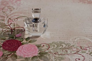 One Perfume Bottle Still Life