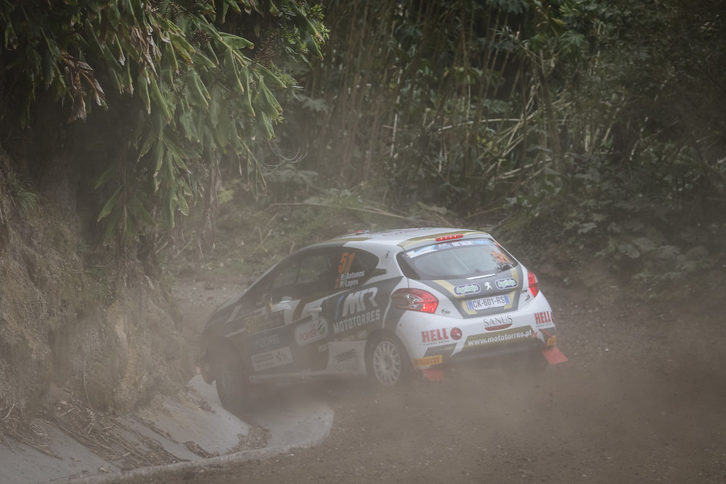 51 ANTUNES Pedro (prt)                 , Peugeot 208 R2, action during the 2018 European Rally Championship ERC Azores rally,  from March 22 to 24, at Ponta Delgada Portugal - Photo Jorge Cunha / DPPI