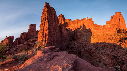 moab camping desert fishertowers light panorama sunset