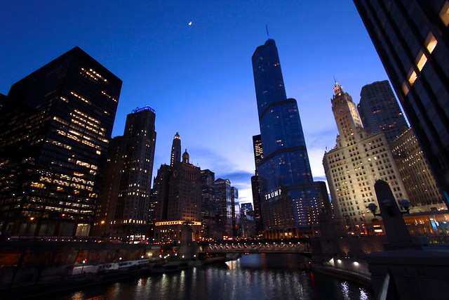Dusk on the Chicago River