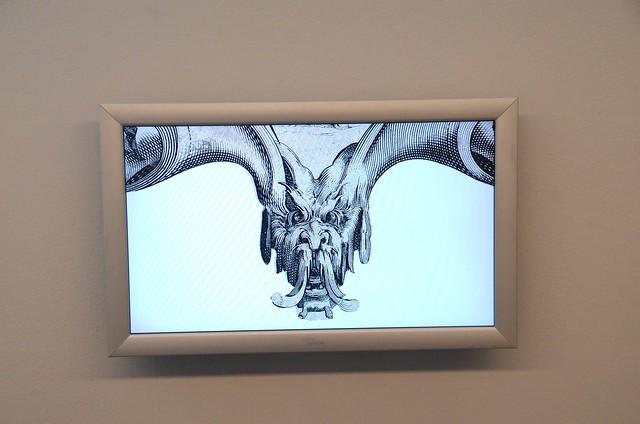 Detalj av en bild av Jacques Callot kan ses i utställningens bildspel