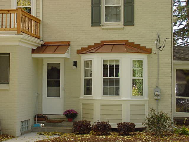 Bay window & Copper Roof Trim Detail