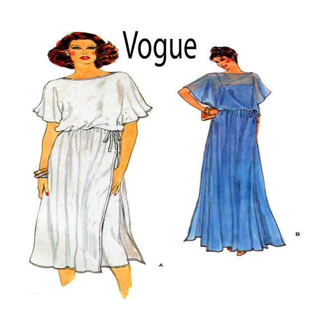 Vogue 7226 grecian dress gown