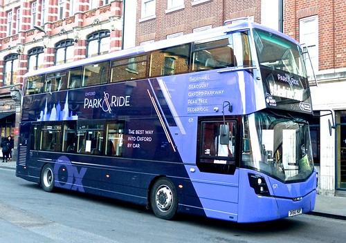 SK66 HUP 'City of Oxford' No. 671 'Park&Ride'. Wright Streetdeck on Dennis Basford's railsroadsrunways.blogspot.co.uk'