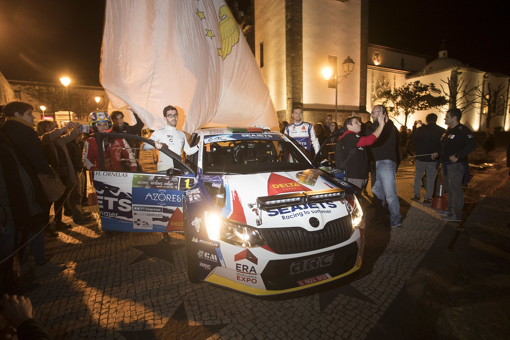 01 MAGALHAES Bruno (prt), MAGALHAES Hugo (prt), SKODA FABIA R5, portrait during the 2018 European Rally Championship ERC Azores rally,  from March 22 to 24, at Ponta Delgada Portugal - Photo Gregory Lenormand / DPPI