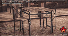 Trompe Loeil - Nevaline Garden Bar, Barstool & Table for Collabor88 March