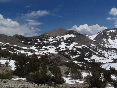 Peaks to the east of Duck Lake from Duck Pass in Inyo National Forest, California