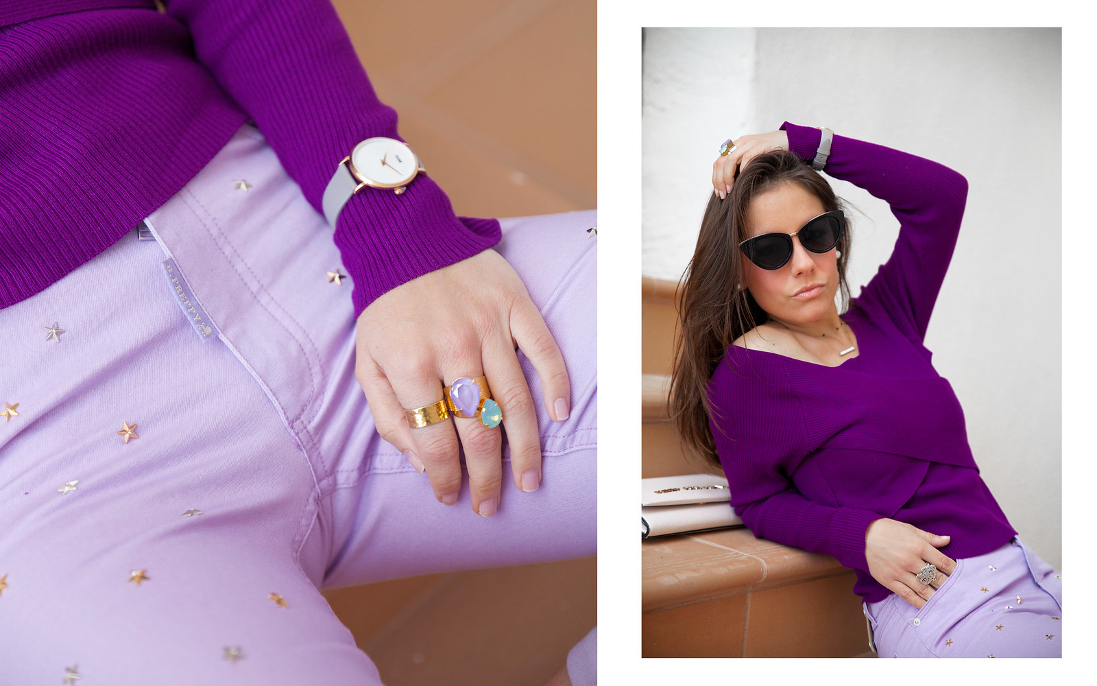 utra violet color del año 2018 Pantone outfit violeta theguestgirl cluse brand ambassador barcelona