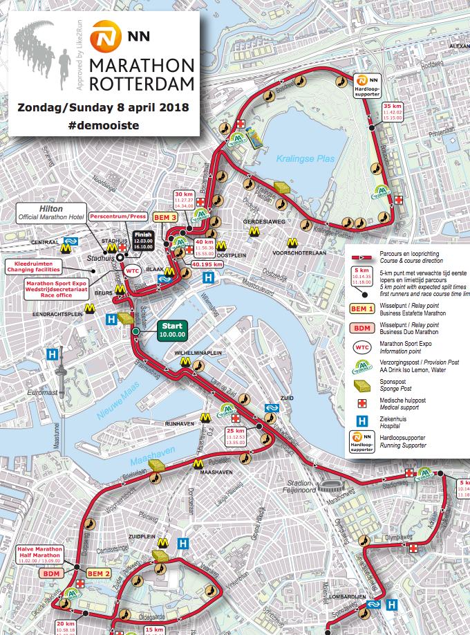 Route Rotterdam
