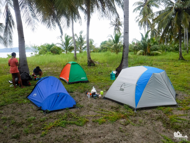 Our campsite at Digyo Island
