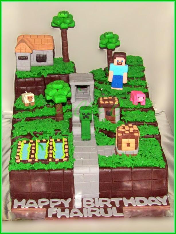 Cake Minecraft FHAIRUL 22 cm