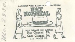 Hat Hospital business card, circa 1920s