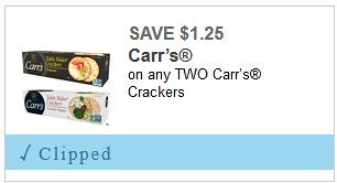 The shoppers apprentice save with a carrs cracker coupon print the brand new 1252 carrs crackers and take it over to meijer or walmart where you can grab either one of the fandeluxe Choice Image