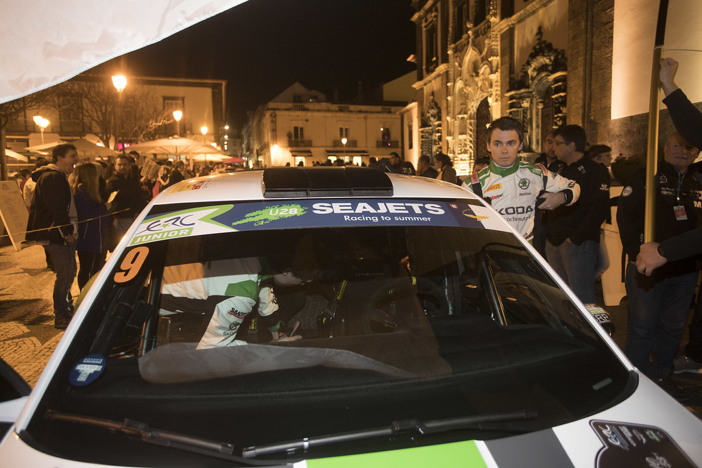 09 KREIM  Fabian (deu), CHRISTIAN Frank (DEU), SKODA AUTO DEUTSCHLAND, SKODA FABIA R5, portrait during the 2018 European Rally Championship ERC Azores rally,  from March 22 to 24, at Ponta Delgada Portugal - Photo Gregory Lenormand / DPPI