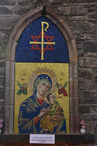 Ein Mosaik in St. John mit einer Menge Symbolik
