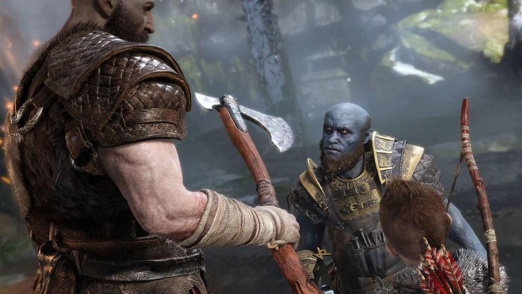 Brok_ante_Kratos_y_Atreus