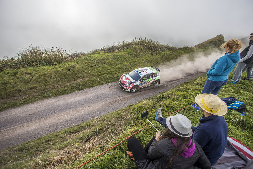 24 HERCZIG Norbert (hun), FERENCZ Ramon (hun), SKODA FABIA R5, action during the 2018 European Rally Championship ERC Azores rally,  from March 22 to 24, at Ponta Delgada Portugal - Photo Gregory Lenormand / DPPI