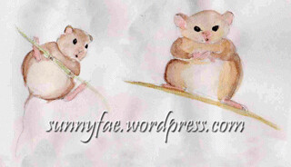 watercolour mousy sketches