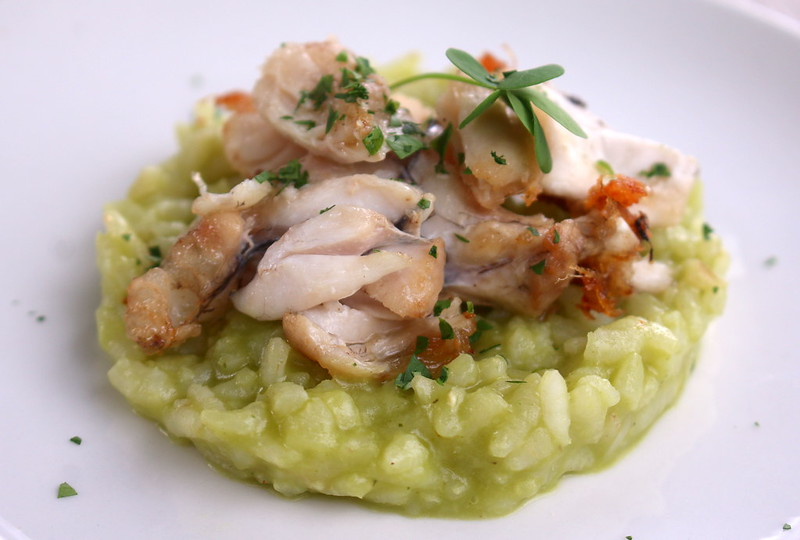 Frog Legs with Wood Sorrel on Risotto