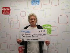 Abraham Streeter - $100,000 - Silver & Gold Cashword - Boise - Stinker Stores