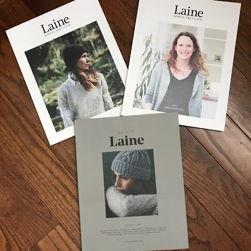 Laine Magazine 4 and back issues of Laine 1 and 2. Also in My Knitting Notes by Laine Magazine
