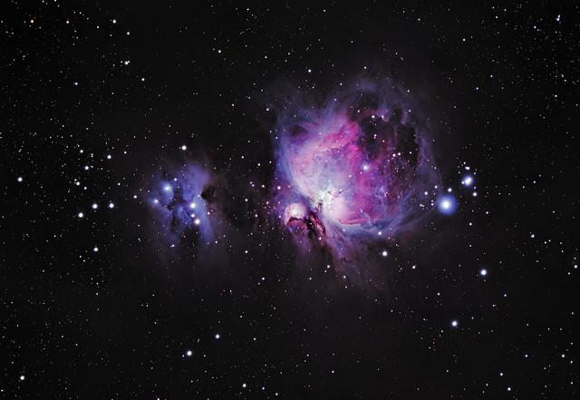 M42 Orion Nebula with Running Man Nebula